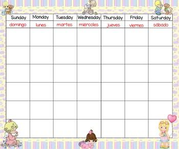 Precious Moments Calendar 24x20 bilingual