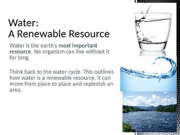 Precious Resources (Sustainability) Presentation - Grades 6-9