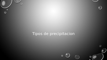 Precipitacion: vocabulary building in Spanish