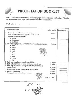 Precipitation Booklet Project