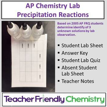 Chemistry Lab: Precipitation Challenge