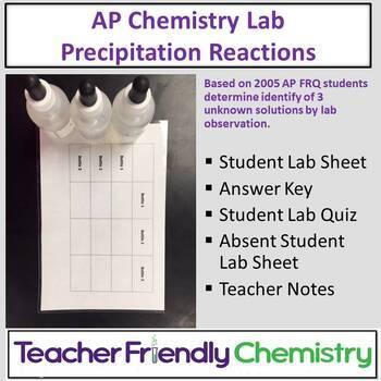 Chemistry Lab: Precipitation  Reactions Challenge