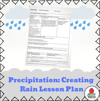 Precipitation! Creating Rain Lesson Plan