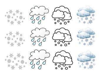 Precipitation Flip Book (Spanish) FREEBIE