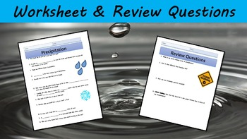 Precipitation Lesson with Power Point, Worksheet, and Review Page