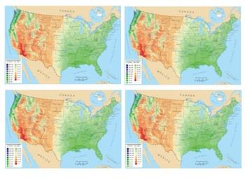 Precipitation in USA states