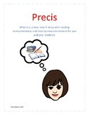 Precis- How to write a precis for reading comprehension, main idea and summaries