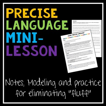 Precise Language Worksheets Teaching Resources TpT