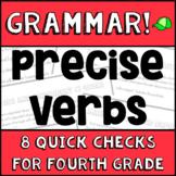 Precise Verbs - 4th Grade Grammar Assessments