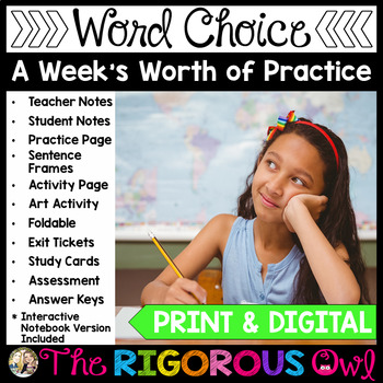 Precise Vocabulary Language Week Long Lessons! Common Core Aligned L4.3a