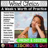 Precise Vocabulary and Word Choice Lesson with a Week's Worth of Practice!