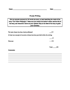 Precise Writing Rubric and Instructions