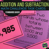 Math Challenges|  HIgh Level Addition and Subtraction Computation Activities
