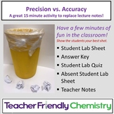 Chemistry Activity: Introduction to Precision and Accuracy Paper Wad Toss
