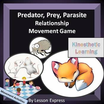 Symbiotic Relationship Movement Game -- Predator, Prey and Parasite
