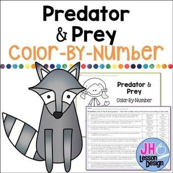 Predator and Prey: Color-By-Number