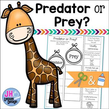 Predator and Prey Cut and Paste Sorting Activity