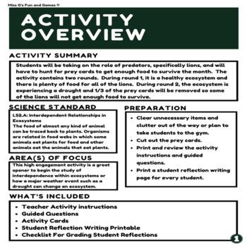 Ecosystem Simulation Activity