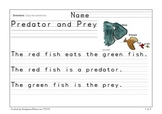 Predator and Prey Writing Practice