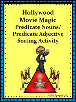 Predicate Adjectives vs. Predicate Noun Hollywood Themed Sorting Center