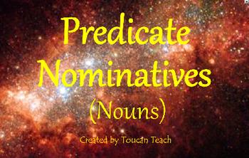 Predicate Nominative (Noun) SMARTBoard Activities