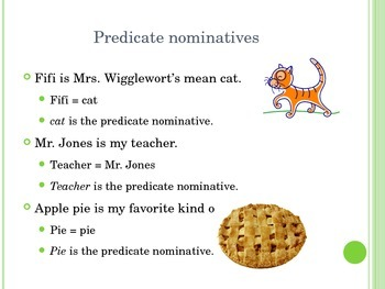Predicate Nominative Power Point Presentation