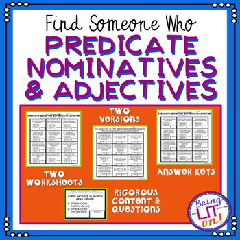 Predicate nominative teaching resources teachers pay teachers predicate nominatives and adjectives find someone who stopboris Image collections