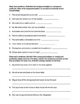 Predicate Test (4th/5th Grade)
