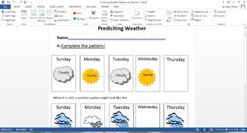 Predicitng weather patterns