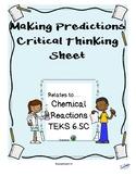 Predict Chemical Indicators TEKS 6.5C