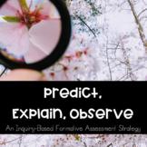 Predict, Explain, Observe (PEO) Graphic Organizer - Inquir