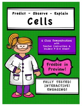 Predict, Observe, Explain - Science Demos for Cells Unit