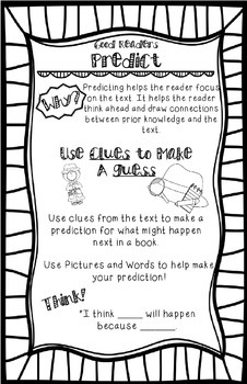 Predict Reading Strategy Anchor Chart