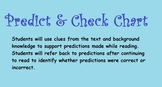 Predict and Check Chart