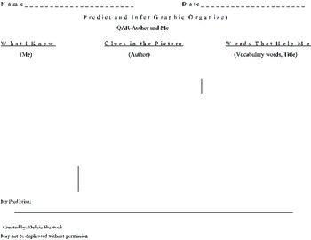 Predict and Infer Graphic Organizer-QAR