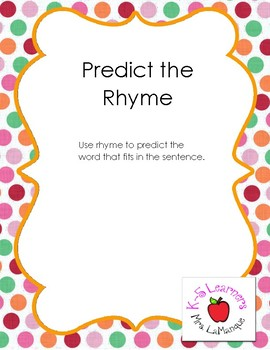 Predict the Rhyme