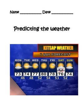 Predict the Weather STUDY GUIDE