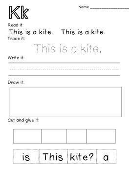Predictable Alphabet Sight Word Reader Kk