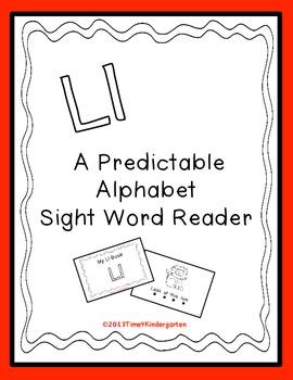 Predictable Alphabet Sight Word Reader Ll