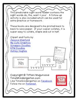 Predictable Alphabet Sight Word Reader Nn
