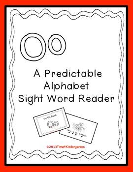 Predictable Alphabet Sight Word Reader Oo