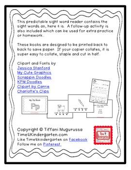 Predictable Alphabet Sight Word Reader Pp