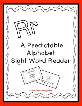Predictable Alphabet Sight Word Reader Rr
