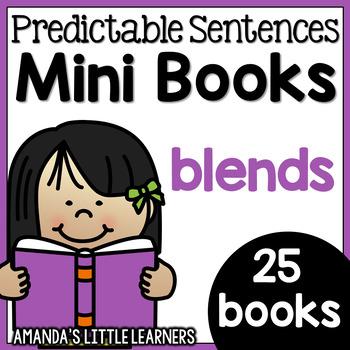 Predictable Sentences Mini Books - Beginning Blends