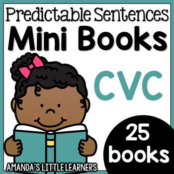 Predictable Sentences Mini Books - CVC Words