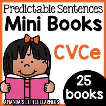 Predictable Sentences Mini Books - CVCe Words