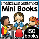 Predictable Sentences Mini Books - Complete Bundle