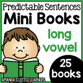 Predictable Sentences Mini Books - Long Vowel