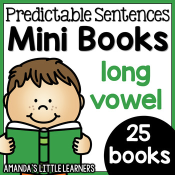 Predictable Sentences Mini Books - Long Vowel