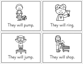 Predictable Sentences Mini Books - Sample Freebie